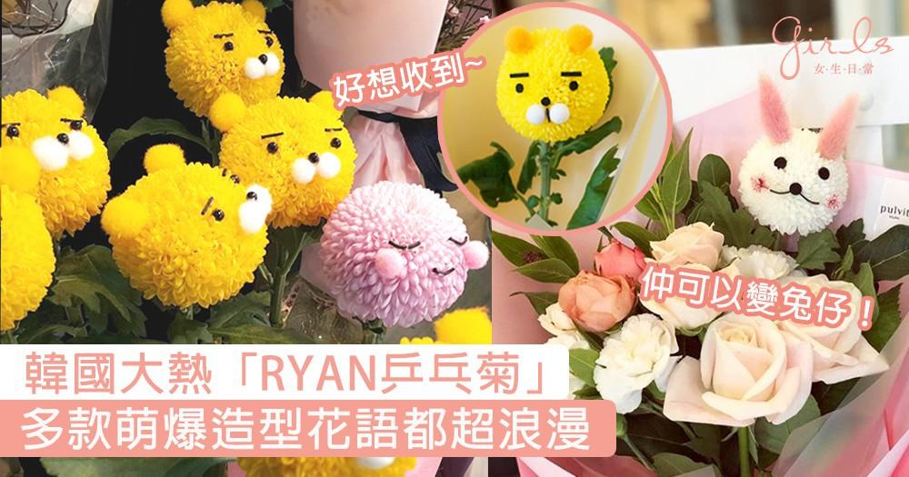 白色情人節最想收到這個!韓國大熱「RYAN乒乓菊」,多款萌爆造型花語也很浪漫〜
