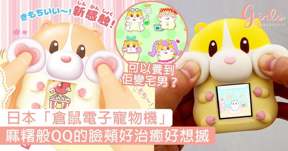 麻糬般QQ的臉頰好想搣!日本「倉鼠電子寵物機」,可以瘋狂搣嘴邊肉+養倉鼠BB好治癒〜
