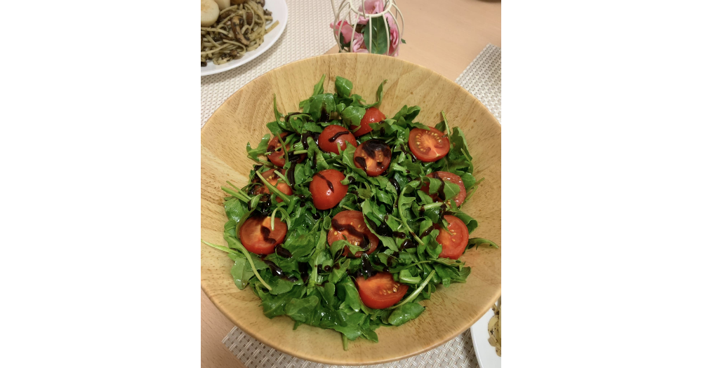健康好味嘅芝麻菜沙律